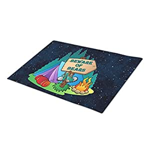 WYD-A Camping Home Mat Blank One size Beware Bears