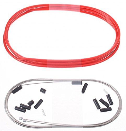 Rouge Cables Mixte Adulte Elvedes Kit Transmission Complet Gaines