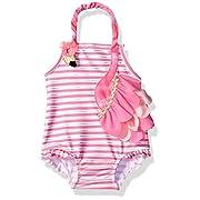 Mud Pie Baby Girls' Swimsuit One Piece, Flamingo, 0-6 Months
