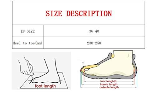 Donna Invernali Casa Calde Le Scarpe Per Nero Pantofole Da Morbide 4qPF7