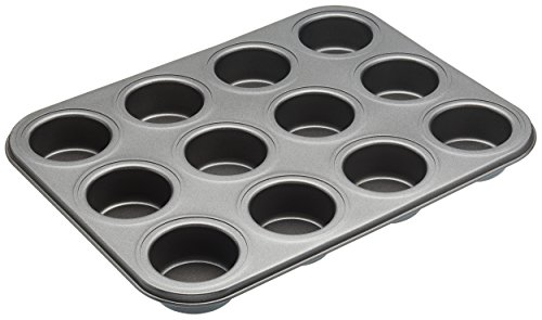Kitchencraft Masterclass 12-hole Non-stick Mini Sandwich Tin With Loose Bases,