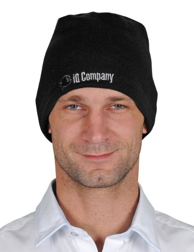 talla negro de negro esquí Company Mütze color iQ hombre Talla para Gorro Beanie única wp6xvq