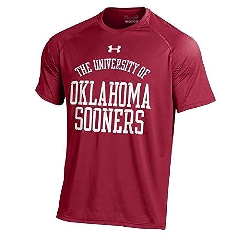 Under Armour Men's NCAA Football NuTech Performance T-Shirt-Oklahoma Sooners-Small - Boomer Football