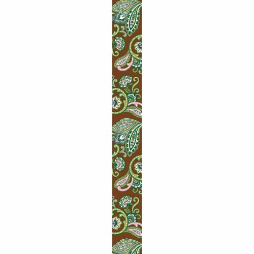 (Offray French Paisley Craft Ribbon, 1 1/2-Inch x 9-Feet, Brown)