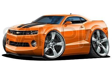 Camaro 2010 Orange 36 inch Wall Skin