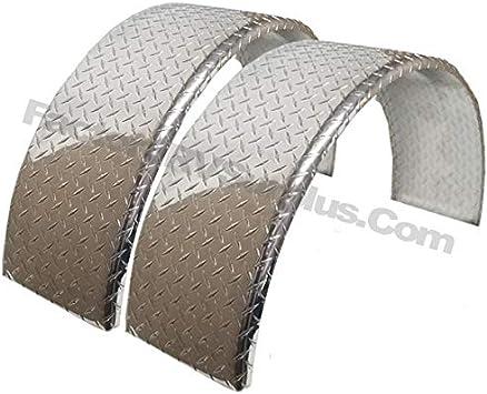Amazon Com Toughgrade 2 Pack Aluminum Diamond Plate Round Top Trailer Fender 10 X 36 X 18 Automotive