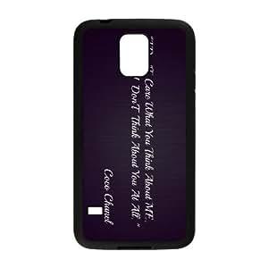 Chanel caso Y2X32Z3TS funda Samsung Galaxy S5 funda OL3ENB negro