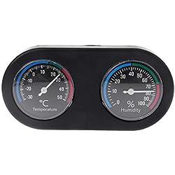 SODIAL Reptile Tank Thermometer Hygrometer Temperature Humidity Monitor for Vivarium Terrarium