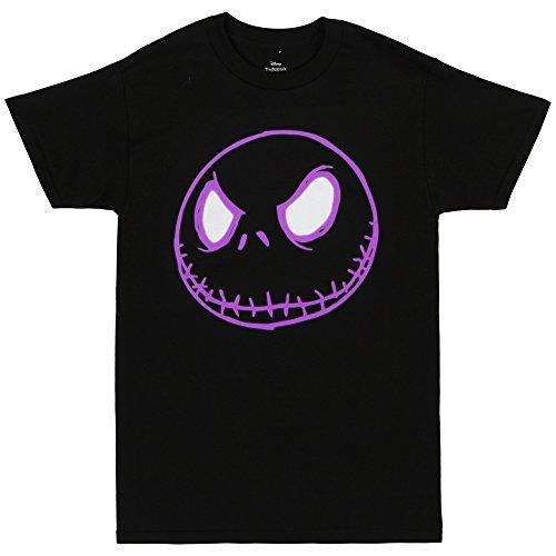 Teen Jack (Nightmare Before Christmas Neon Jack Skellington Adult T-shirt - Black)