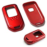 iJDMTOY (1 Exact Fit Gloss Metallic Red Smart Remote Key Fob Shell for Honda Accord Crosstour HR-V FIT Odyssey, etc