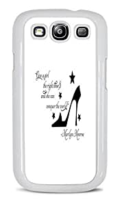 Trendy Accessories Marilyn Monroe Inspirational Quotes Design Print Image White Hardshell Case for Samsung Galaxy S3