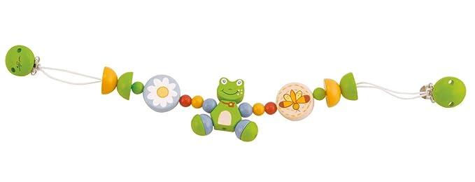 Bieco 44021004 carro Cadena Froggy, cadena de madera con Froggy el Rana, carro Cadena para jugar y comida para niños, desde el nacimiento en, color verde: ...