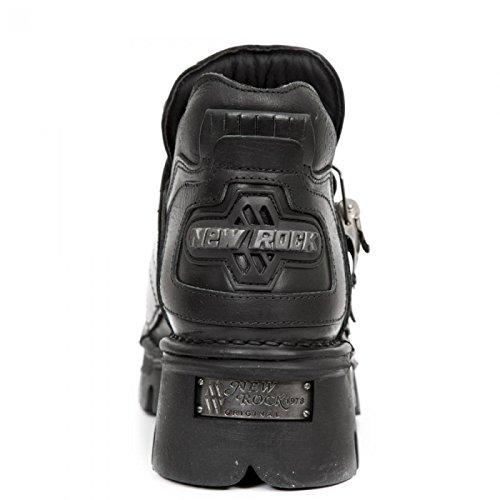 Nuovi Stivali Di Roccia M.211-s1 Gotico Hardrock Punk Stiefelette Unisex Schwarz