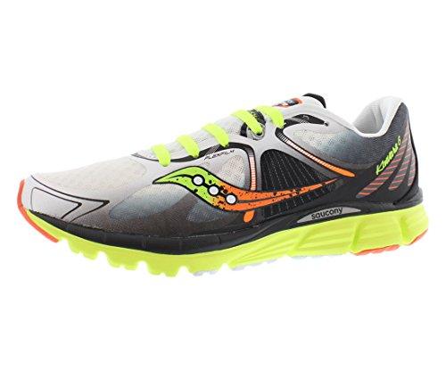 Saucony Men's Kinvara 6 Running Shoe, White/Citron/Orange,11 M US