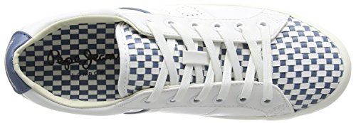 Pepe Jeans Clinton Mixed, Women's Low-Top Sneakers White - Weiß (800white)