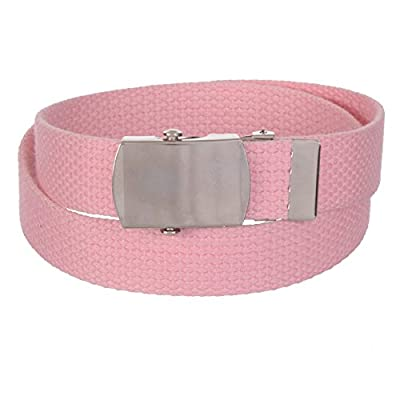 Sunny Belt Unisex Kids 1 Inch Wide Cut To Fit Canvas Web Belt/Military Buckle