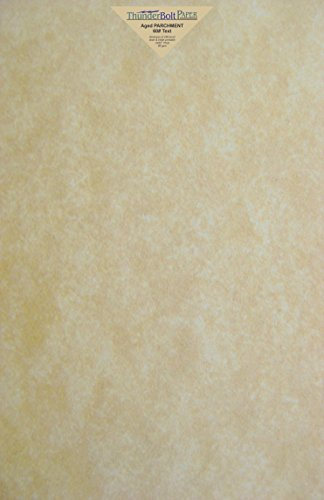 Parchment Bond Paper - 25 Old Age Parchment 60# Text (=24# Bond) Paper Sheets - 12 X 18 Inches Poster | Large Size - 60 Pound is Not Card Weight - Vintage Colored Old Parchment Semblance