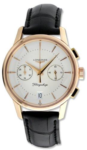 longines flagship heritage chronograph 18k rose gold mens watch l4 longines flagship heritage chronograph 18k rose gold mens watch l4 756 8 72 2 amazon co uk watches