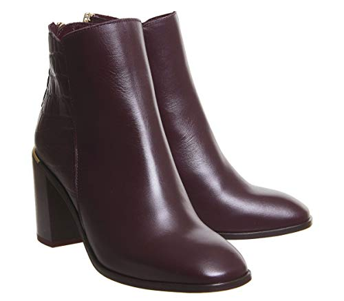 Heels Office Block Square Croc Burgundy Mix Adelle Leather Toe Iw7qCPnw