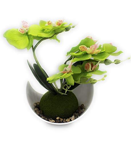 Orquideas artificiales arreglos de flores en jarron decoracion de mesa centro de mesa