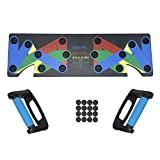 Push Up Physical Activity Exercise Workout Training Stand Board Pad Handle Grip Equipment Tool Device System for Home Gym (9 preset Positions)