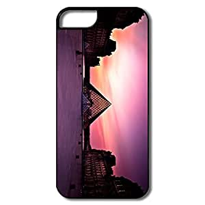 Funny Louvre Museum Sunset Plastic Cover For IPhone 5/5s
