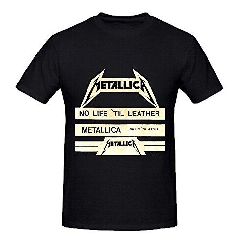Metallica No Life Til Leather 2016 Men's Crew Tee Shirts Black