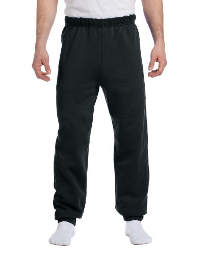 (Jerzees 8 oz, 50/50 NuBlend Fleece Sweatpants (973)- Black,Small)