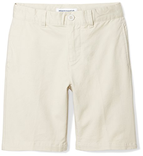 Amazon Essentials Boys' Flat Front Uniform Chino Short, Light (And 1 Boys Shorts)