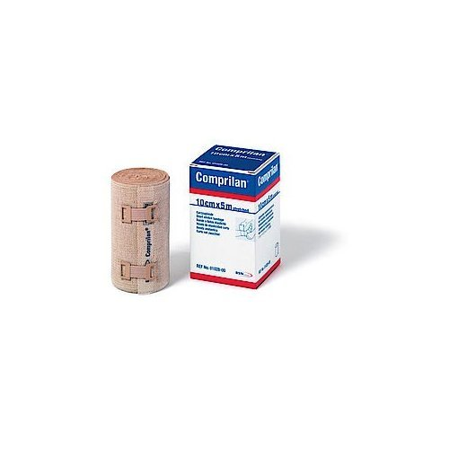 """Comprilan, 100% Cotton Short Stretch Compression Bandage, 12cm x 10m (4.7"""" x10.9yds.), 1 ()"""