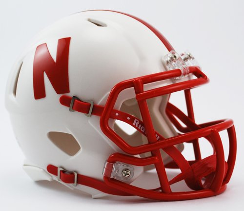 - Creative Sports Enterprises, Inc RC-NEBRASKA-MR-Speed Nebraska Cornhuskers Riddell Speed Mini Football Helmet