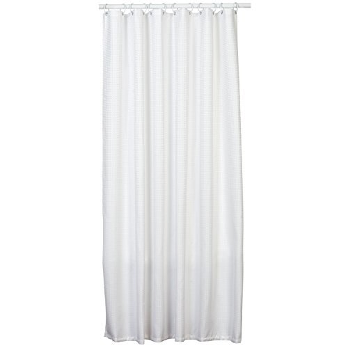 Zenna Home H21WW04, Luxury HotelWaffle Weave Shower Curtain, 70 in x 72 in, White