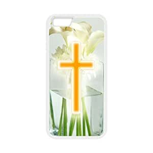 DANGDANG Flowers Cross Shell Phone for iphone6 White Cover Phone Case [Pattern-5]