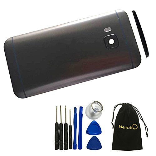 Mencia Back Cover Battery Door Case with Camera Glass Lens For HTC One M9 With Tools (Black)