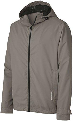 Joe's USA(tm) Mens Classic Rain Jacket-Grey-XL
