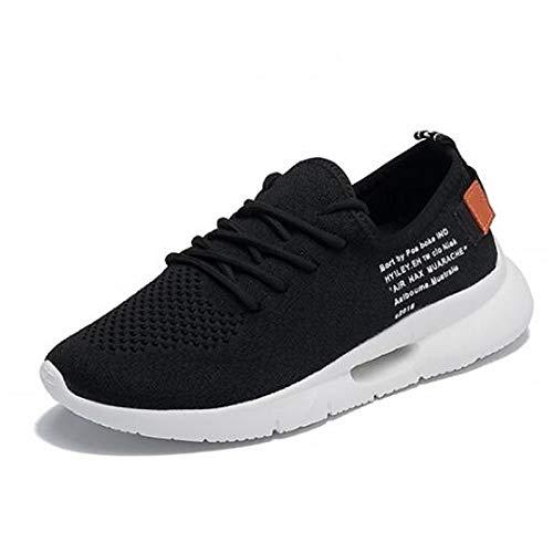 piatto Sneakers Tacco ecopelle ZHZNVX chiusa Comfort Scarpe White Punta Estate Primavera Bianco Rosso donna Nero da wSzqC