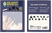 The Little Mermaid Shadows Puppets, 12pcs Nighttime Shadows Stick Puppets Children Fairy Tales Educational Sil