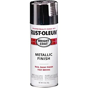 Rust-Oleum 7718830 Bright Coat Metallic Color 11-Ounce Spray, Gloss Chrome