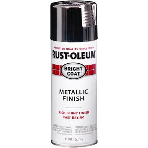 (Rust-Oleum 7718830 Bright Coat Metallic Color 11-Ounce Spray, Gloss Chrome)