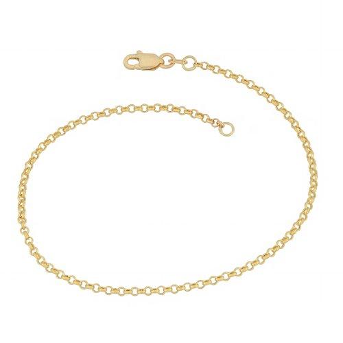 14k Yellow Gold 1.9mm Rolo Chain Bracelet (7 inch) (Gold Yellow Rolo 14k Bracelet)