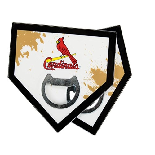 - St. Louis Cardinals Baseball Bottle Opener and Coaster - Set of 2 - Sports Crate Exclusive
