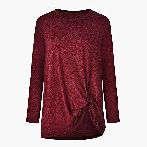 col kingwo Vin Manches Femme Longues en Automne O en Shirt dcontract Haut T Du Longues Manches YnYWFrqZw