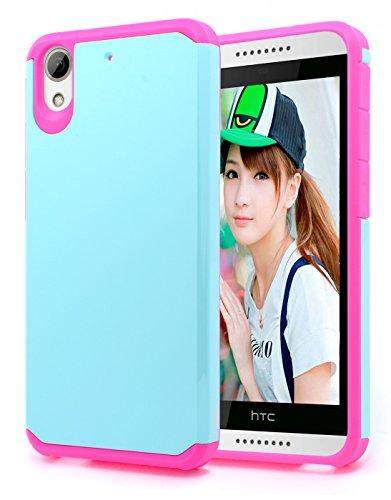 625 Mint - HTC Desire 626 / 626s / 625 Case, NageBee Design Premium [Heavy Duty] Defender [Dual Layer] Protector Hybrid Case for HTC Desire 626 / 626s / 625 (Hybrid Natural Mint/Pink)