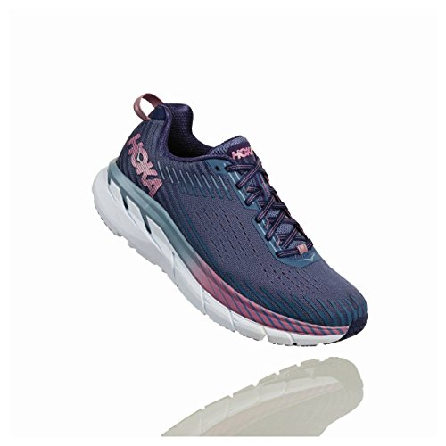 HOKA ONE ONE Clifton 5 Trail Running Shoe - Women's Marlin/Blue Ribbon 10 (10 Best Running Shoes)