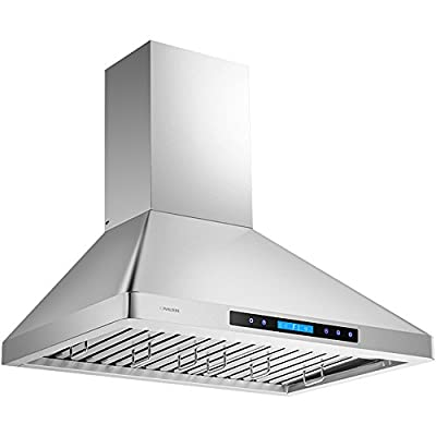 Cavaliere-Euro 30W in. Wall Mounted Range Hood with Baffle Filter