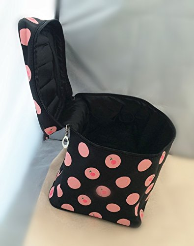 2015 New Design Cherry Pattern Update Big Size Makeup Bag,single Layer Cosmetic Bag (Black)