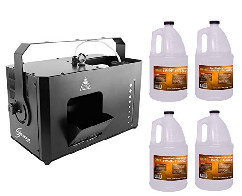 (Chauvet Hurricane Haze 4D HHAZE4D Low Profile Hazer Machine + 4x Fluid Gallon )