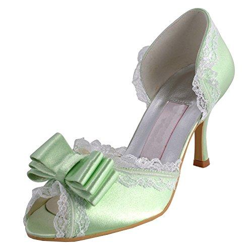Kevin Fashion , Chaussures de mariage tendance femme - Vert - vert, 43