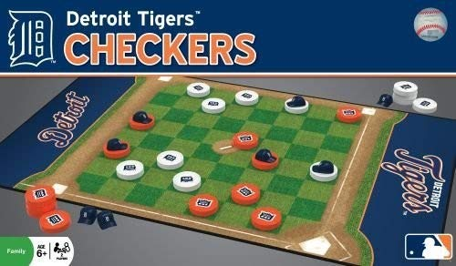 MasterPieces MLB Detroit Tigers Checkers Board Game