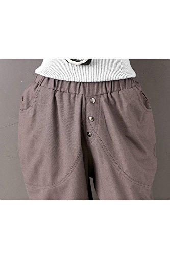 Vita Moda Solidi Baggy Donna Tempo Swag Colori Elastica Tendenza Pantaloni Pluderhose Glamorous Streetwear Pants Estivi Pantaloni nbsp; HaiDean Semplice Lunga Libero Grey Eleganti Harem Pantaloni 7AxznOY